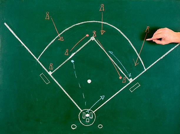 Baseball Diamond Strategy stock photo