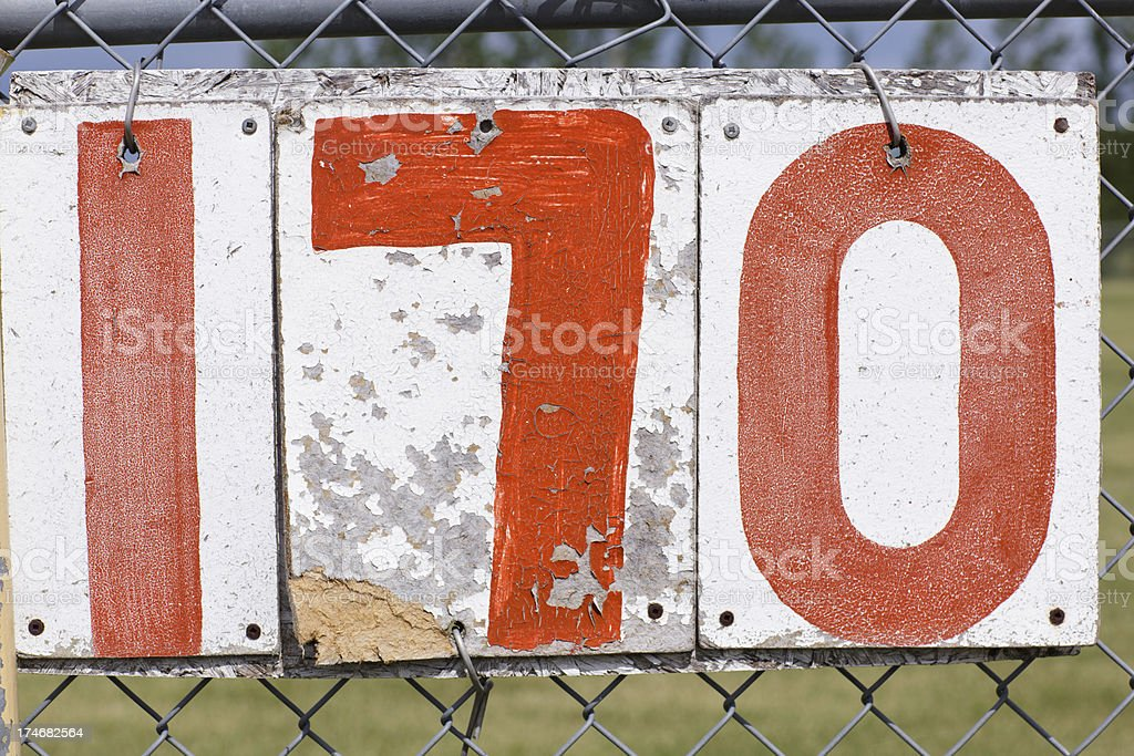Baseball Distance Marker royalty-free stock photo