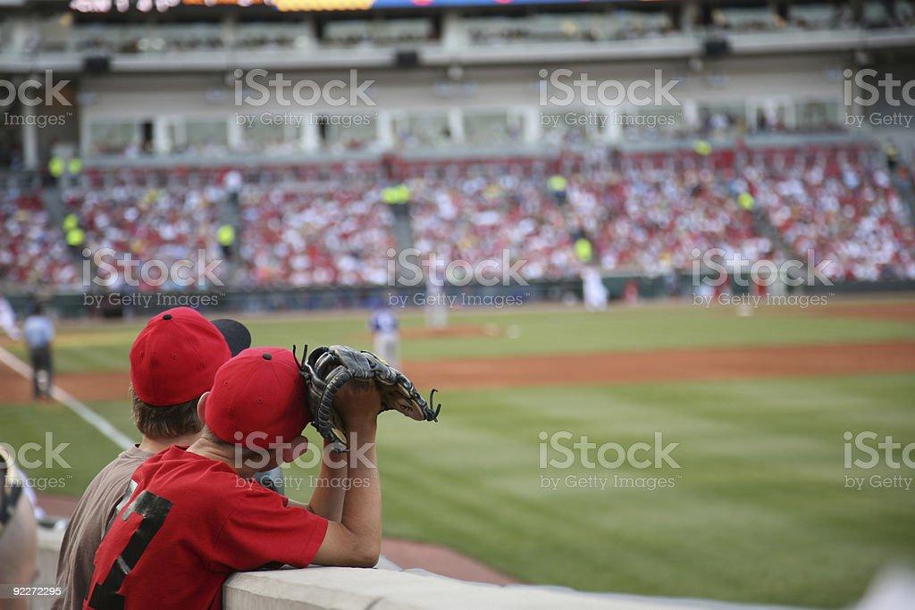 Baseball dreams  Anticipation Stock Photo