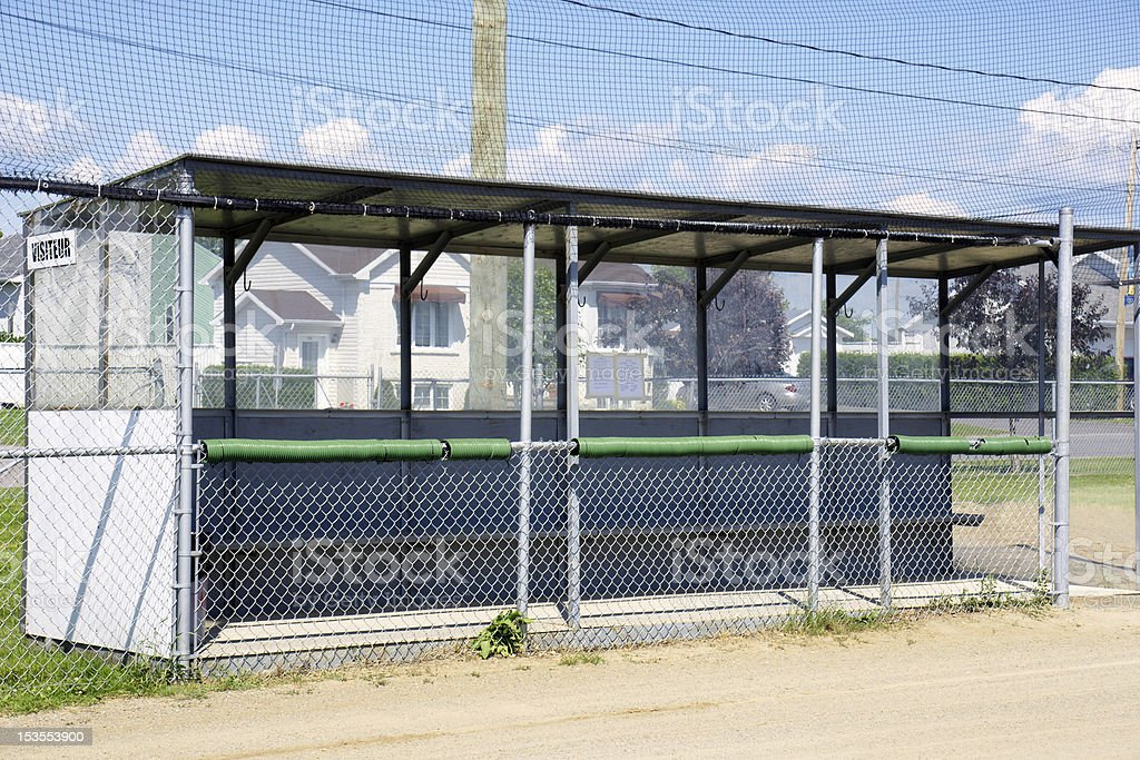 Baseball dugout stock photo