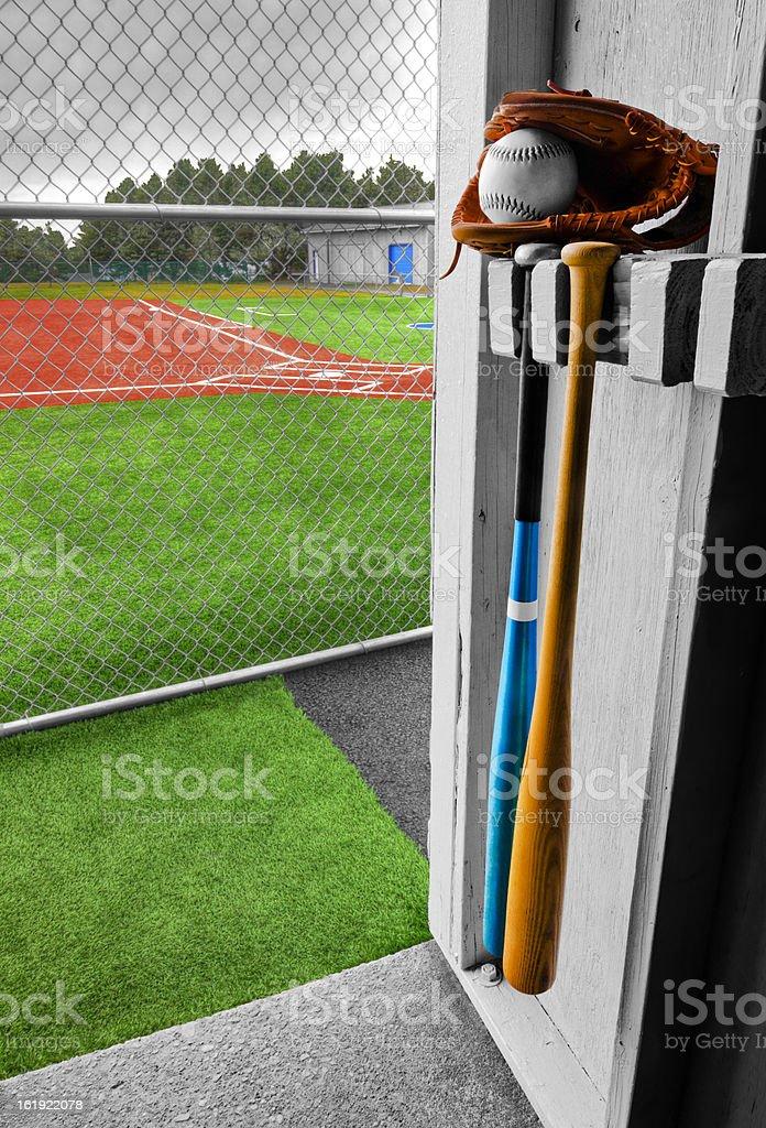 Baseball Dugout stock photo