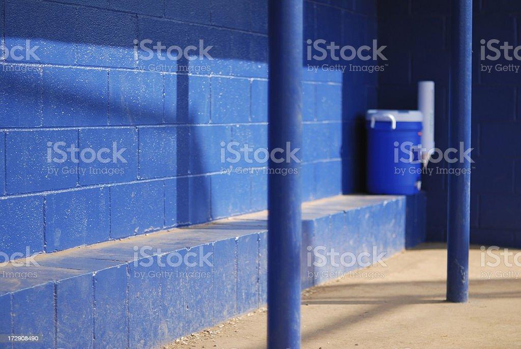 Baseball Dugout royalty-free stock photo