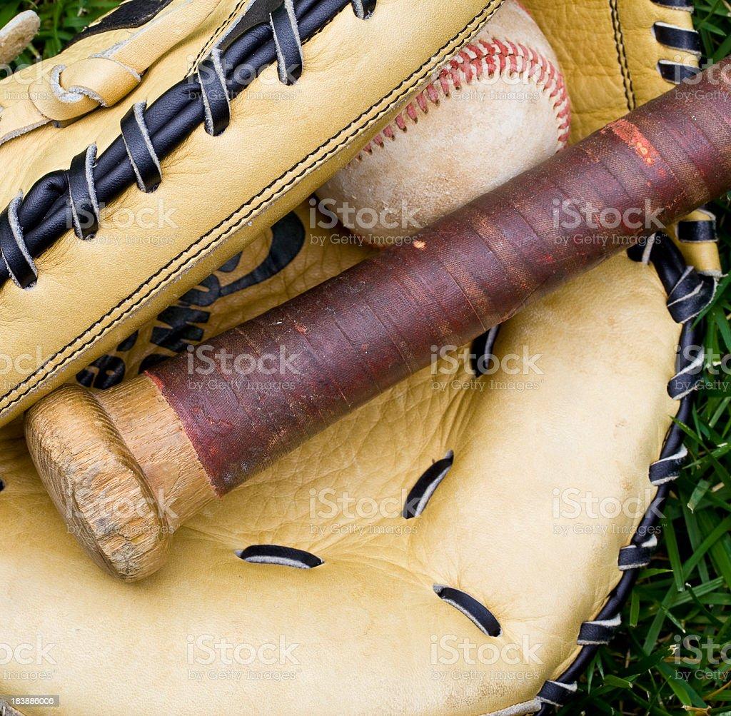 Baseball equipment royalty-free stock photo