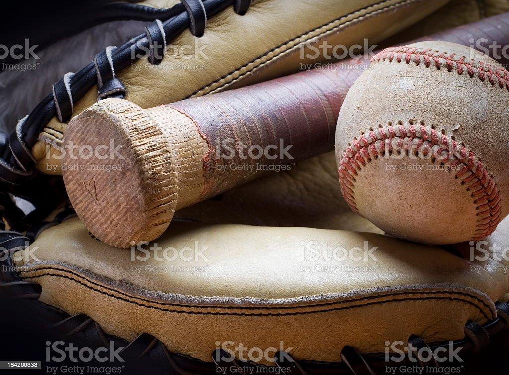 Baseball equipment stock photo