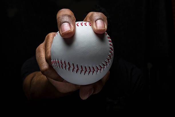 Baseball Fastball Grip stock photo