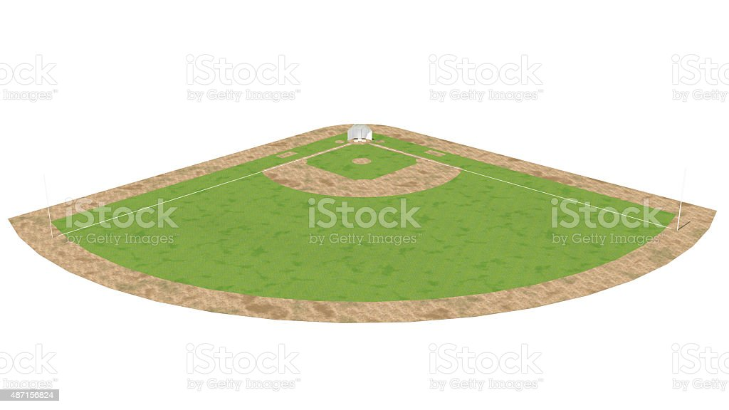 Baseball Field 3D Outdoor Rendering stock photo