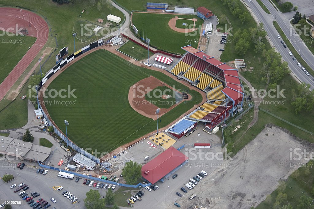 Baseball Field Aerial View stock photo