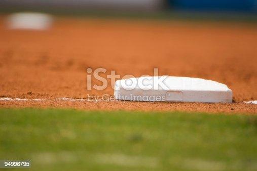 istock Baseball Field at a Baseball Game 94996795