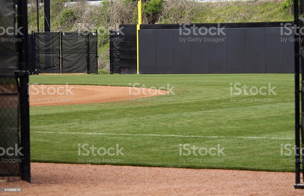 Baseball Field at a Baseball Game stock photo