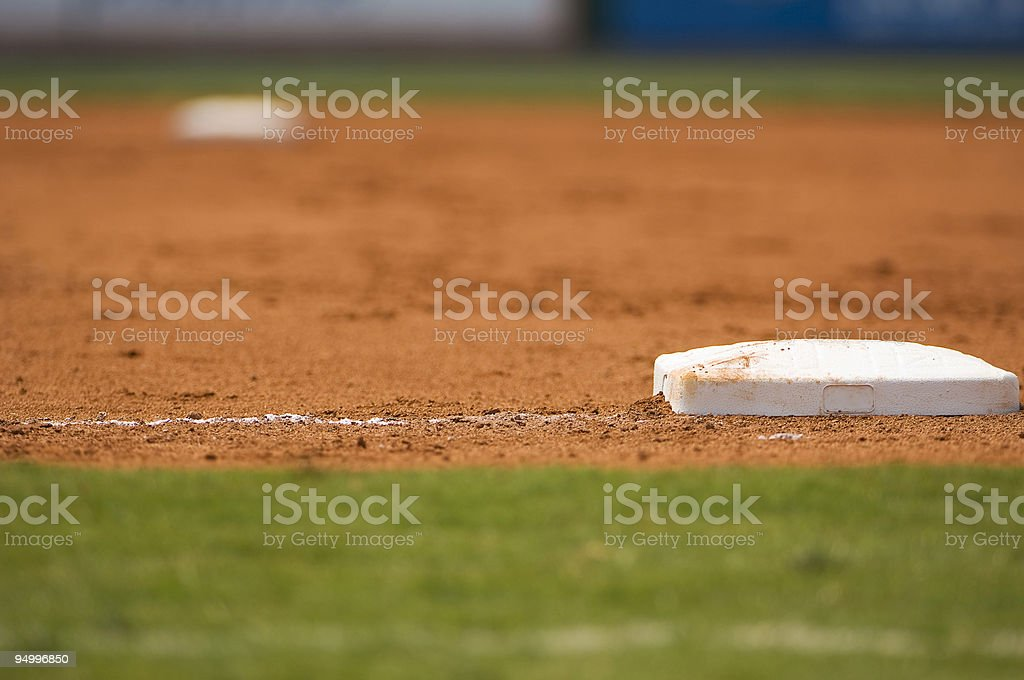 Baseball Field at a Major League Baseball Game stock photo