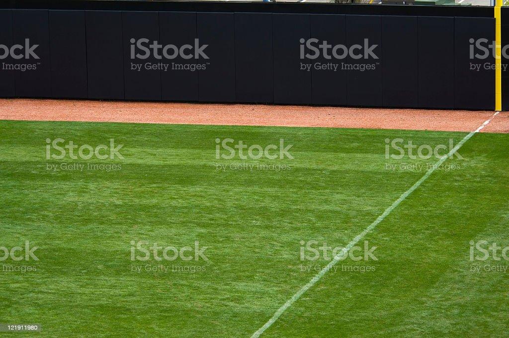 Baseball Field at Baseball Game stock photo