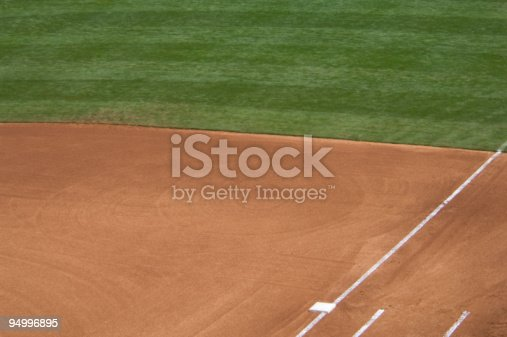 istock Baseball Field at Baseball Game 94996895