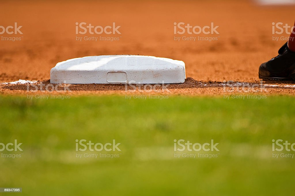 Baseball Field at Baseball Game with Baseball Player royalty-free stock photo
