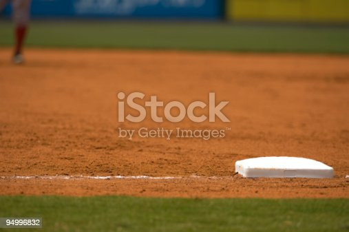 istock Baseball Field at Baseball Game with Baseball Player 94996832