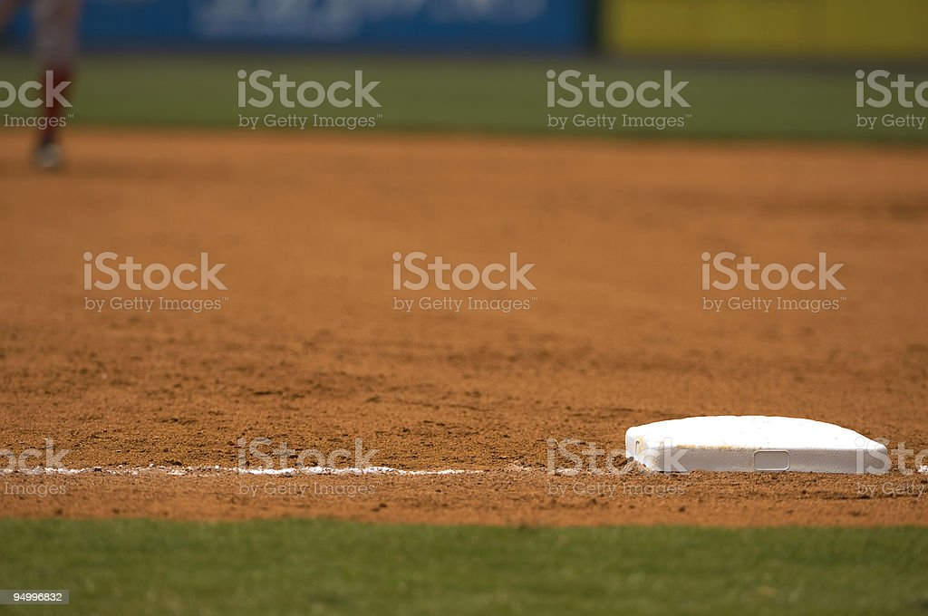 Baseball Field at Baseball Game with Baseball Player stock photo