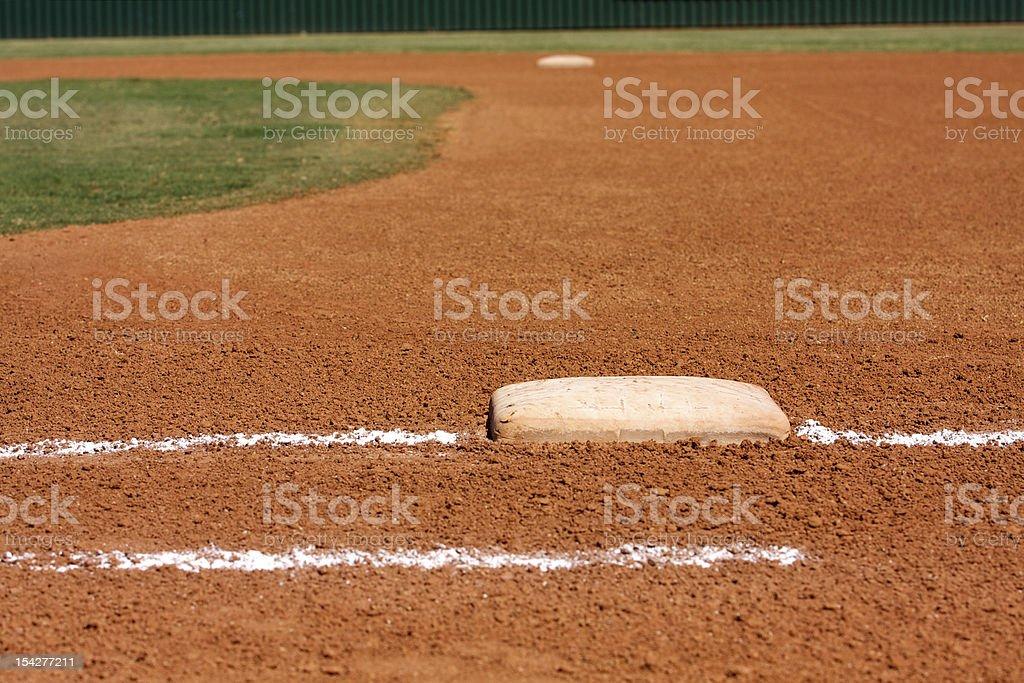 Baseball Field at First Base Line royalty-free stock photo