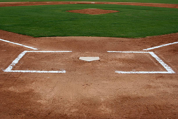 Baseball Field at Home Plate stock photo