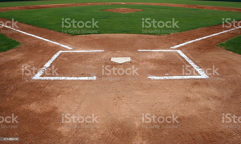 Baseball Field at Home Plate stock photo