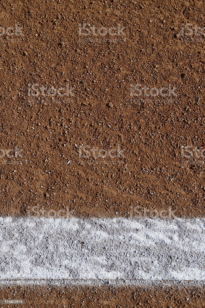 Baseball Field Chalk Line royalty-free stock photo