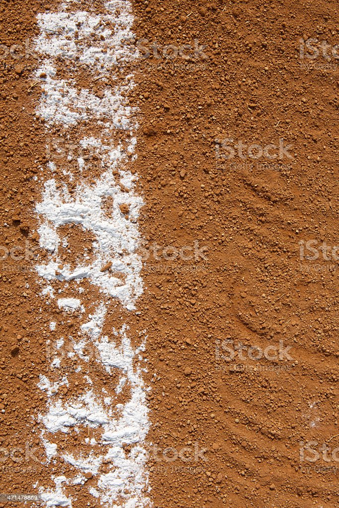 Baseball Field Chalk Line stock photo