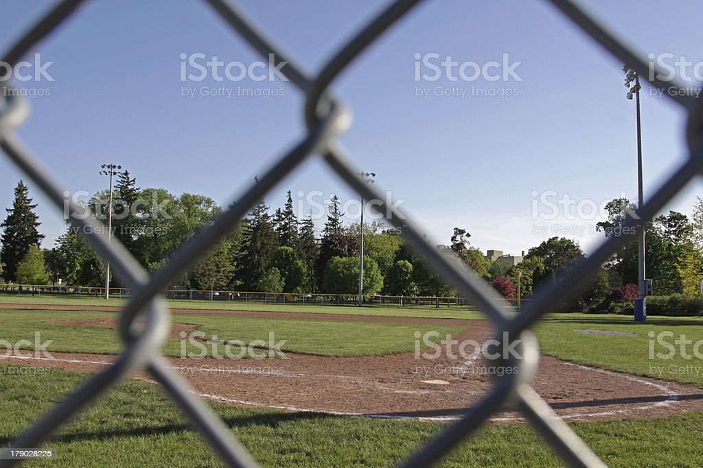 Baseball Field Fence Framing royalty-free stock photo