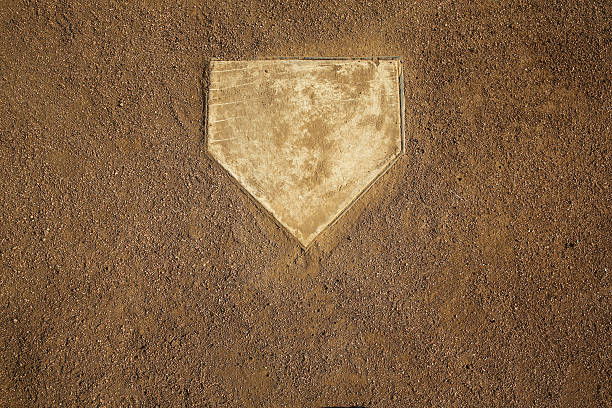 Baseball Field Home Plate stock photo