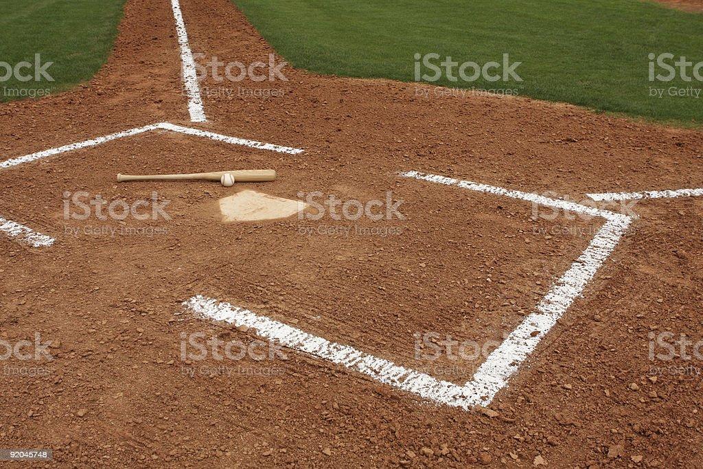Baseball Field Infield and Batters Box stock photo