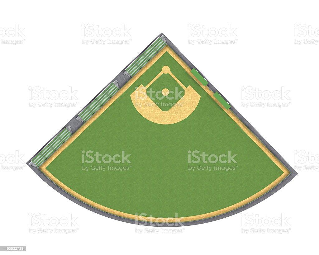 Baseball Field Isolated stock photo