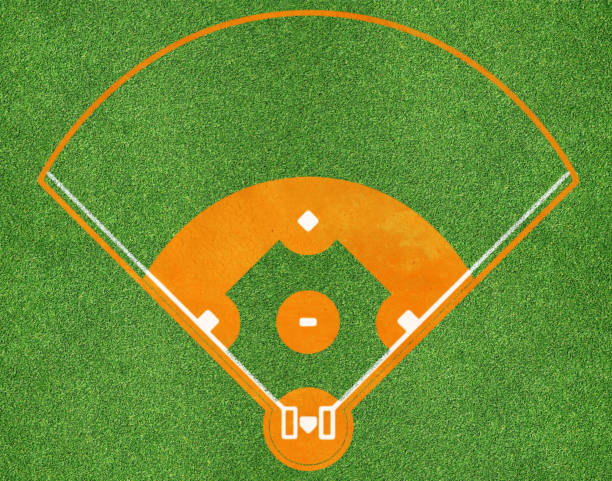 baseball field top view of baseball field infield stock pictures, royalty-free photos & images