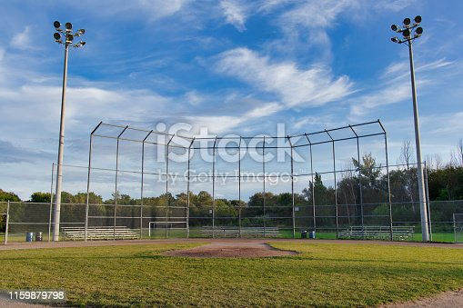 A picture of a baseball field