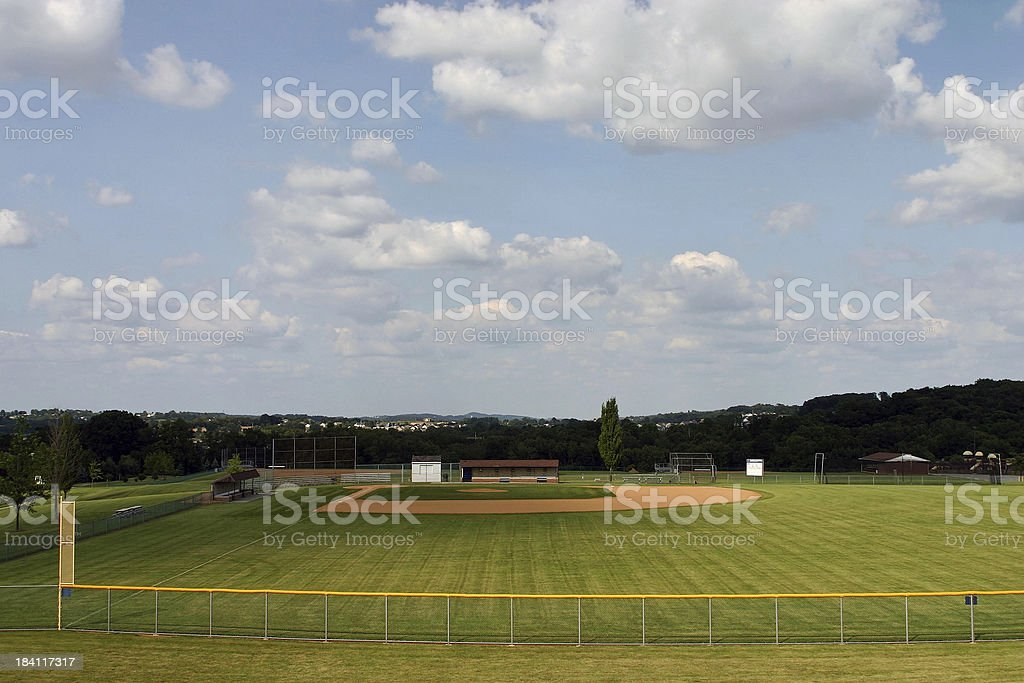 Baseball Field royalty-free stock photo