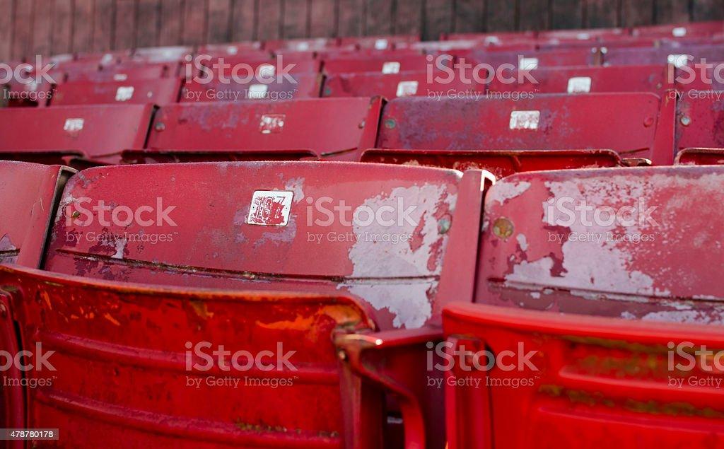 Baseball Field Seats stock photo