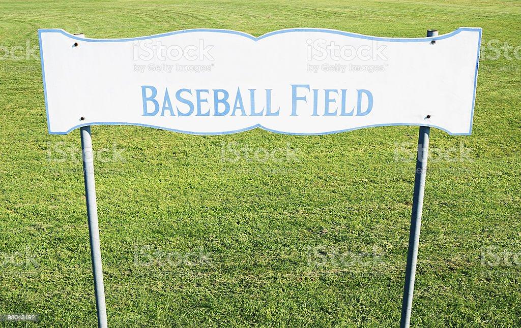 Baseball field sign royalty-free stock photo