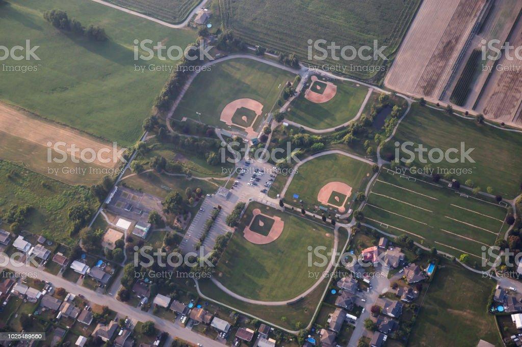 Baseball Fields Aerial stock photo