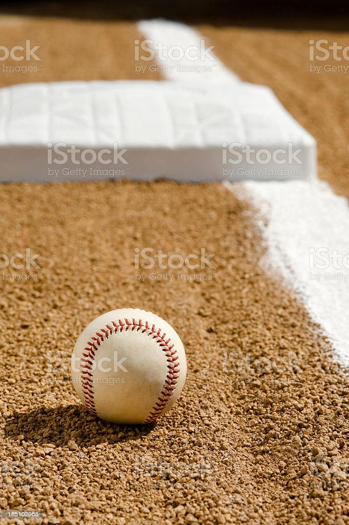 Baseball - First base royalty-free stock photo