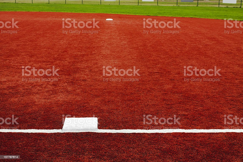 Baseball First Base Towards Second stock photo