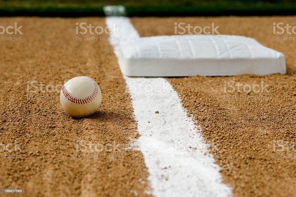 Baseball - Foul Ball royalty-free stock photo