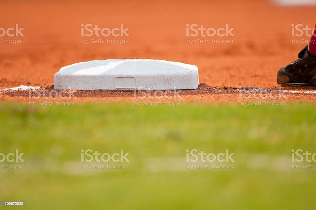 Baseball Game at Major League Baseball Field royalty-free stock photo