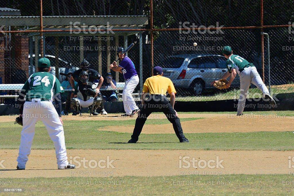 Baseball Game stock photo