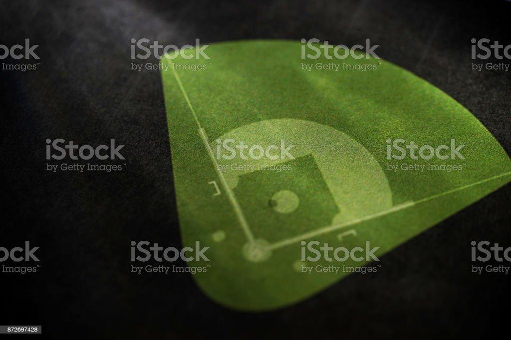baseball game plan stock photo