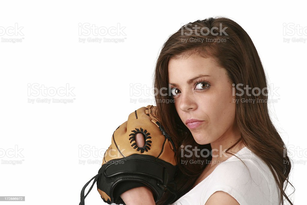 Baseball Girl stock photo