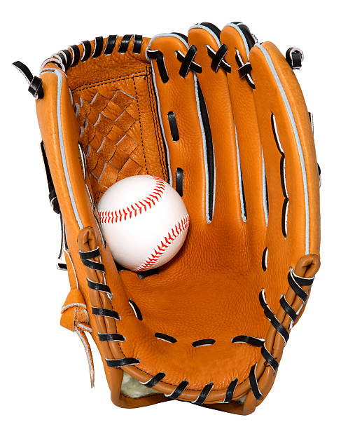 Baseball Glove and Ball Isolated stock photo