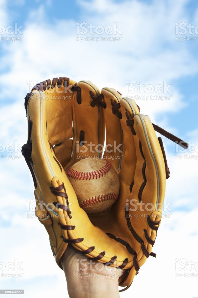 Baseball Glove and Ball stock photo