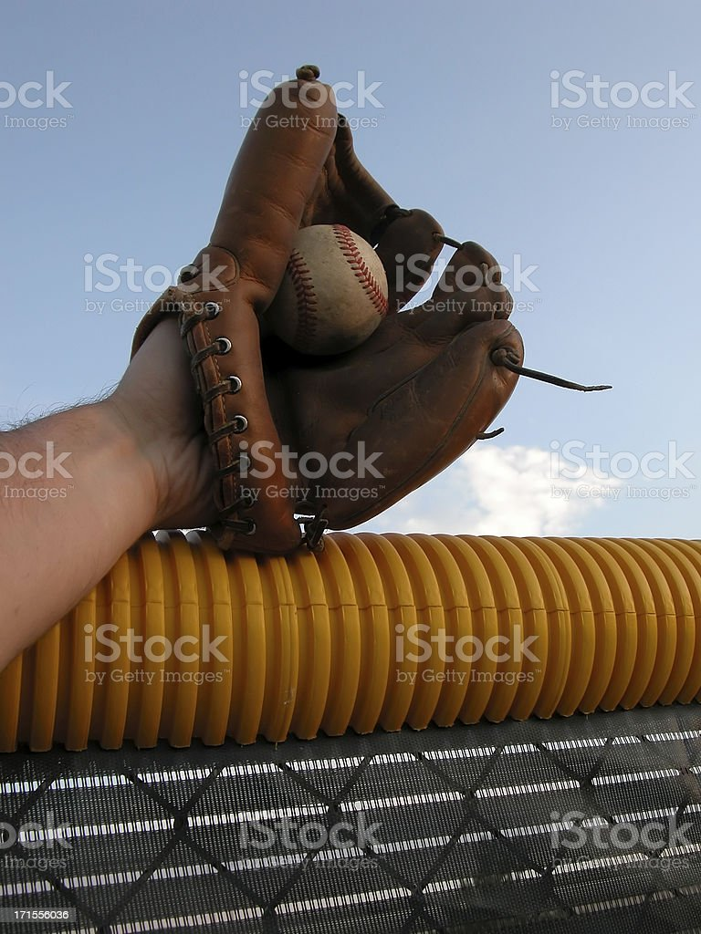 Baseball Glove Catch royalty-free stock photo