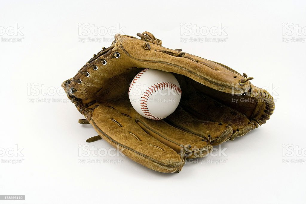 Baseball glove Closing with Ball royalty-free stock photo