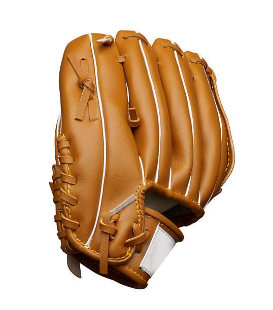 baseball glove on white background stock photo
