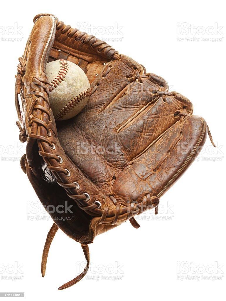 Baseball Glove on White royalty-free stock photo