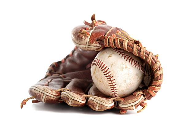 Baseball glove stock photo