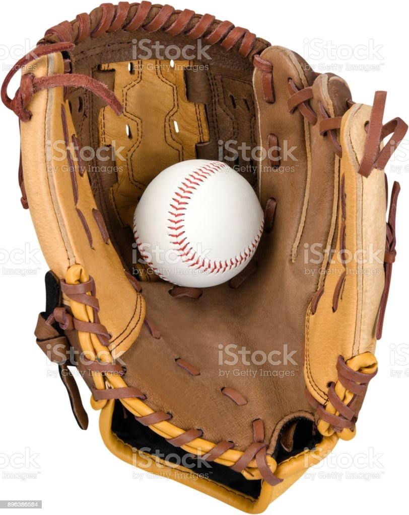 Baseball glove. stock photo
