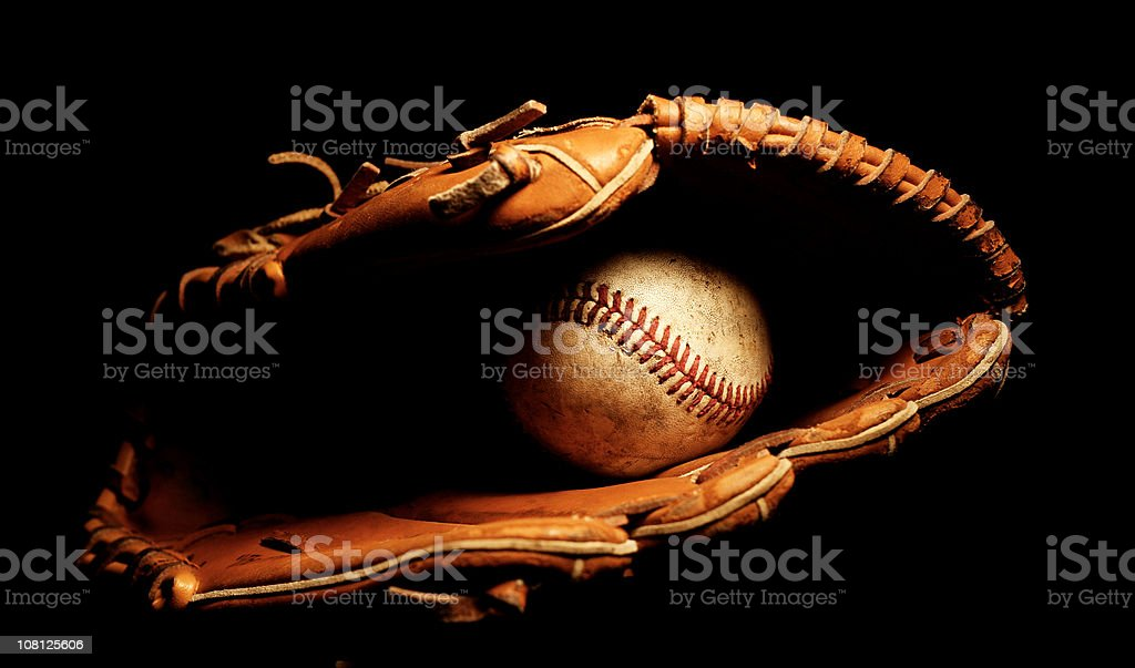Baseball Glove with Ball royalty-free stock photo